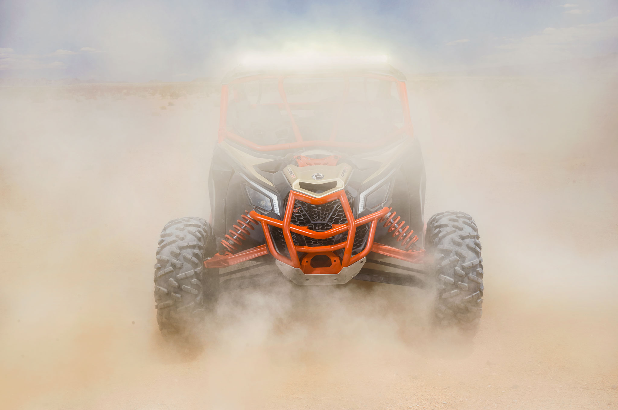 2017 can am maverick x3 turbo front dust cloud
