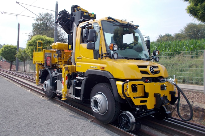 """Mercedes-Benz Reads """"Little Engine That Could,"""" Preps Unimog for Rail Servicing"""