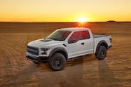 2017 ford f 150 raptor supercab left front view