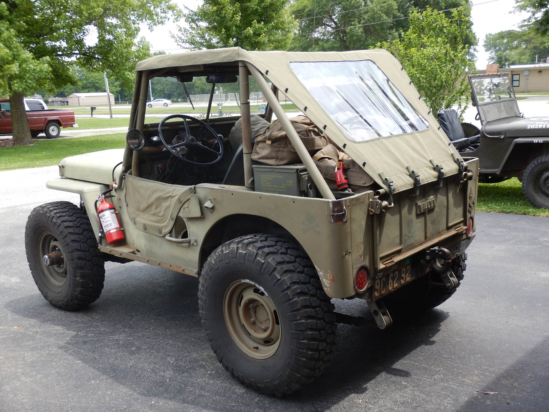 """The rear of the custom """"bikini"""" top was tapered to allow better access to the ammo can storage boxes in the rear tub of the CJ-2A."""