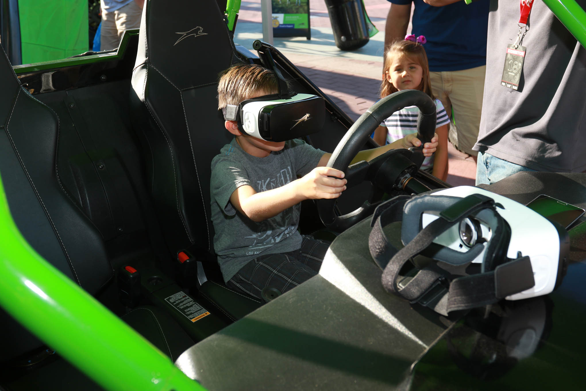 Who says you need real dirt? Arctic Cat had a VR experience right there at the show to give all a view of what off-roading is really like.