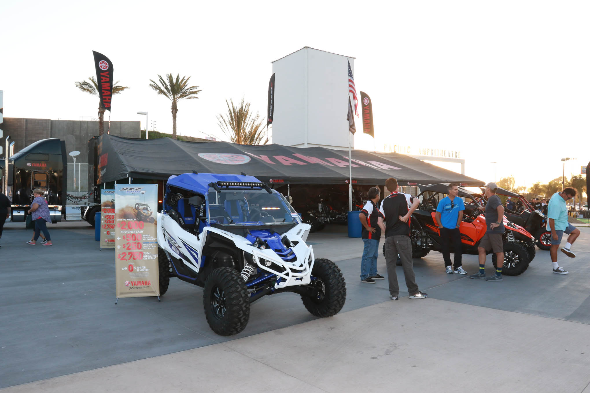 Yamaha, Polaris, Arctic Cat and Can Am all had huge booths showcasing their latest models.