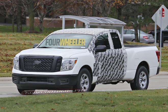 2018 Nissan Titan Extended Cab Spied!
