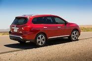 auto news four wheeler  nissan pathfinder 2017 exterior rear 3 4