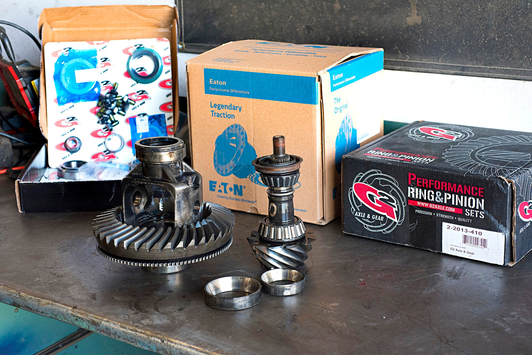 We replaced our Bronco's old differential parts using a G2 Master Installation Kit (PN 35-2013), G2 4.10:1 gearset (PN 2-2013-410), and a 31-spline Eaton Posi (PN 19588-010). Our four-wheeling is going to be light- to medium-level, so we didn't feel the need for a full diff locker at this time.