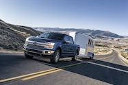 2018 ford f 150 xlt front quarter towing