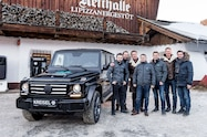 arnold schwarzenegger kreisel electric g wagen group shot vehicle