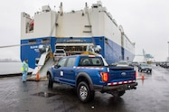 2017 ford f 150 raptors china loading on ship