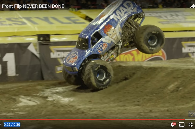 Lee O'Donnell Lands First Ever Front Flip at Monster Jam