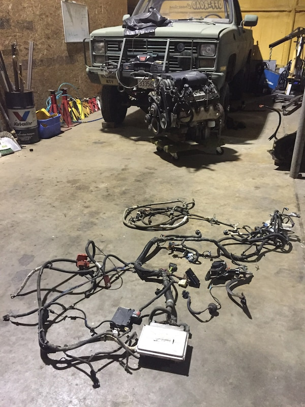 Swapping an 8.1L Big-Block in a 1973-1991 Square- Chevy Pickup on 1970 gmc wiring harness, 1990 chevy c1500 wiring harness, gmc truck wiring harness, 1995 gmc wiring harness,