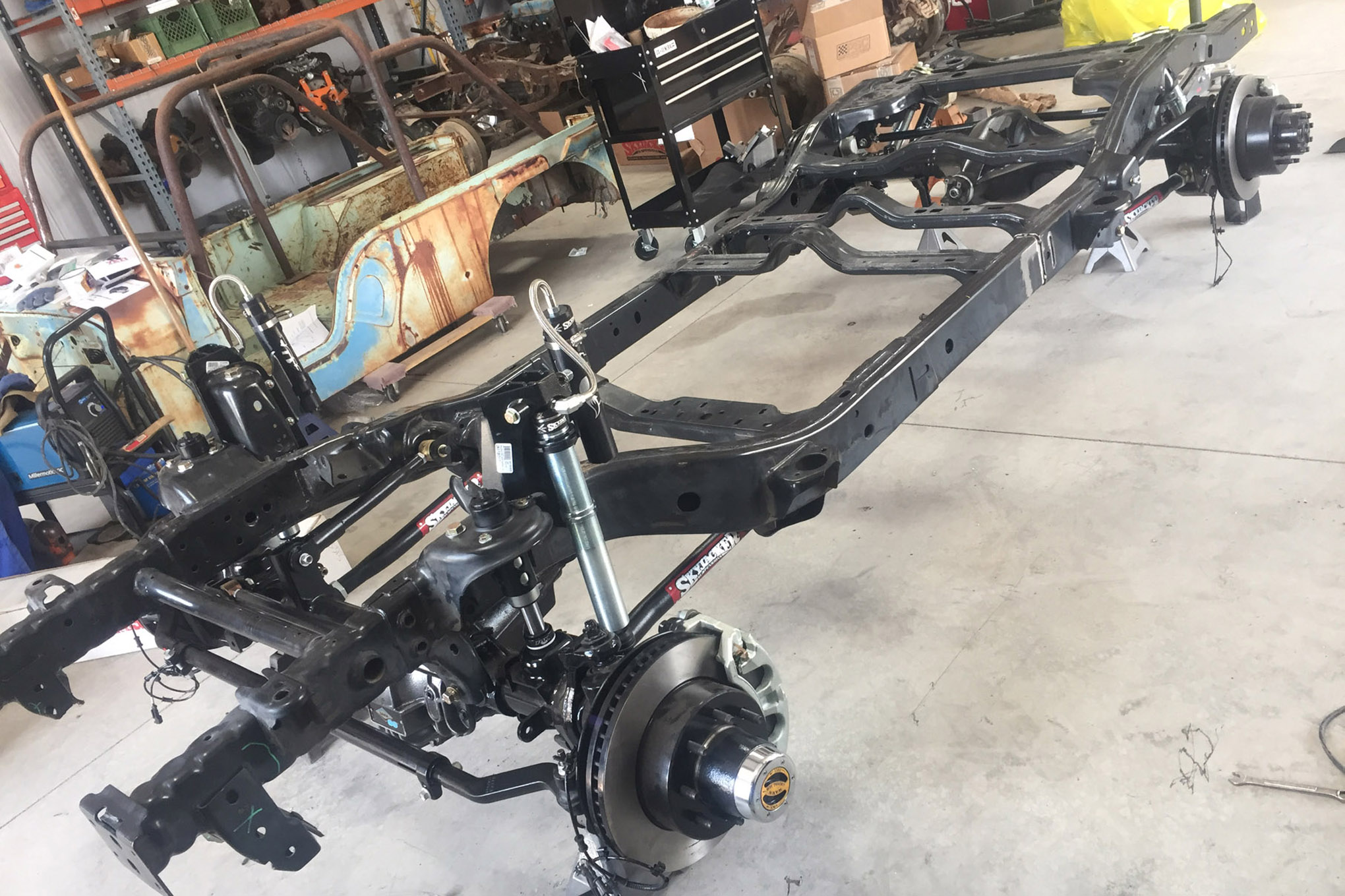 uacj 6d part 2 skyjacker suspension and jk frame setup