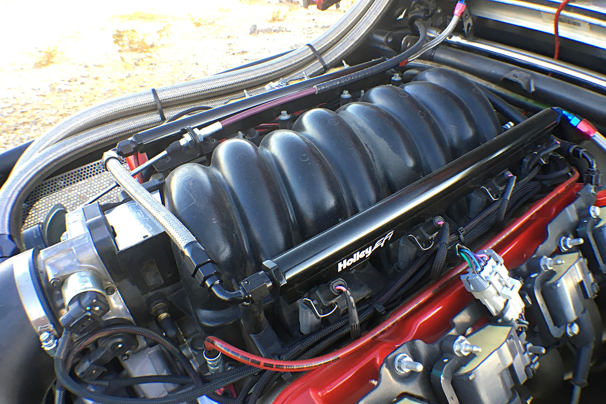 Putting out 500 hp, the LS1 features a Holley EFI system and FAST fuel system, a K&N air filter, and various internal upgrades.