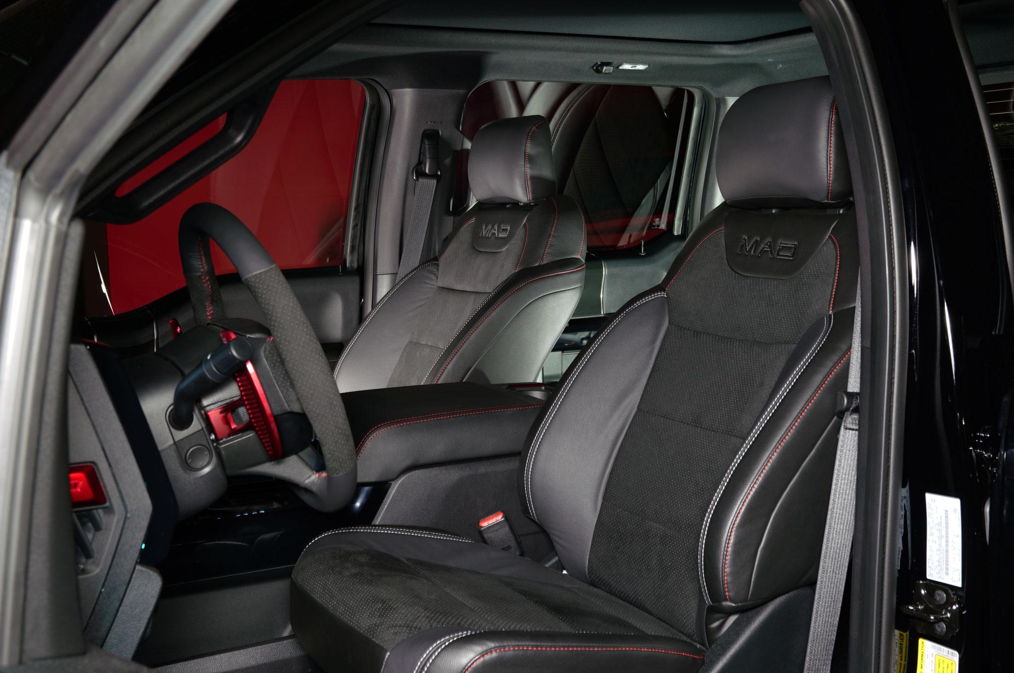2018 Ford F 150 Raptor MAD Industries Black Drivers Interior 02