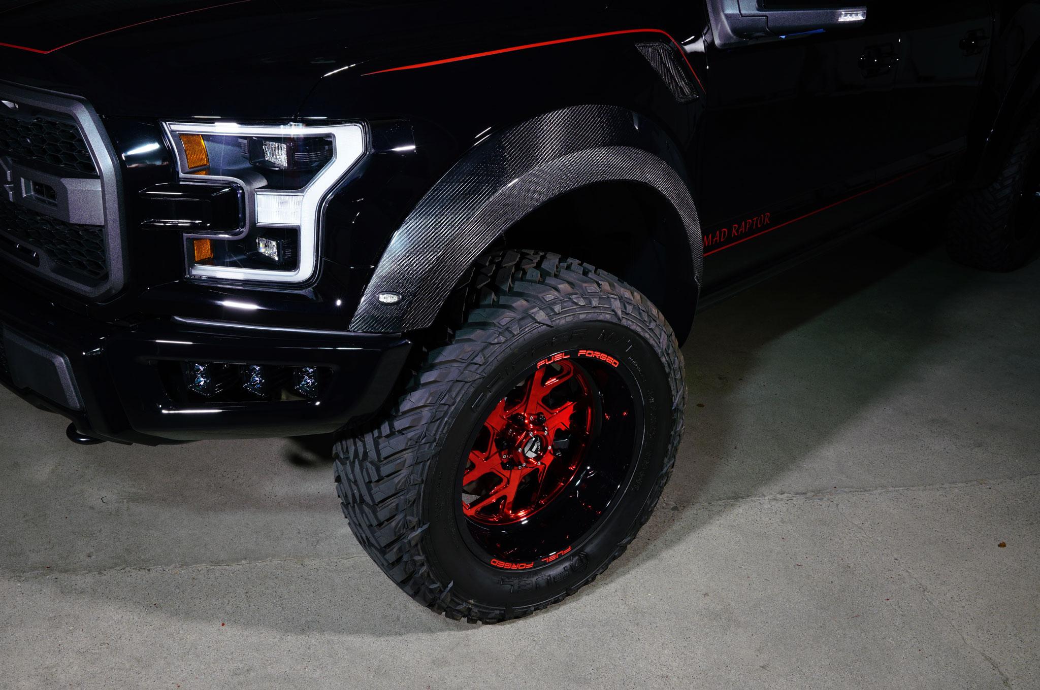 2018 Ford F 150 Raptor MAD Industries Black front fender wheel