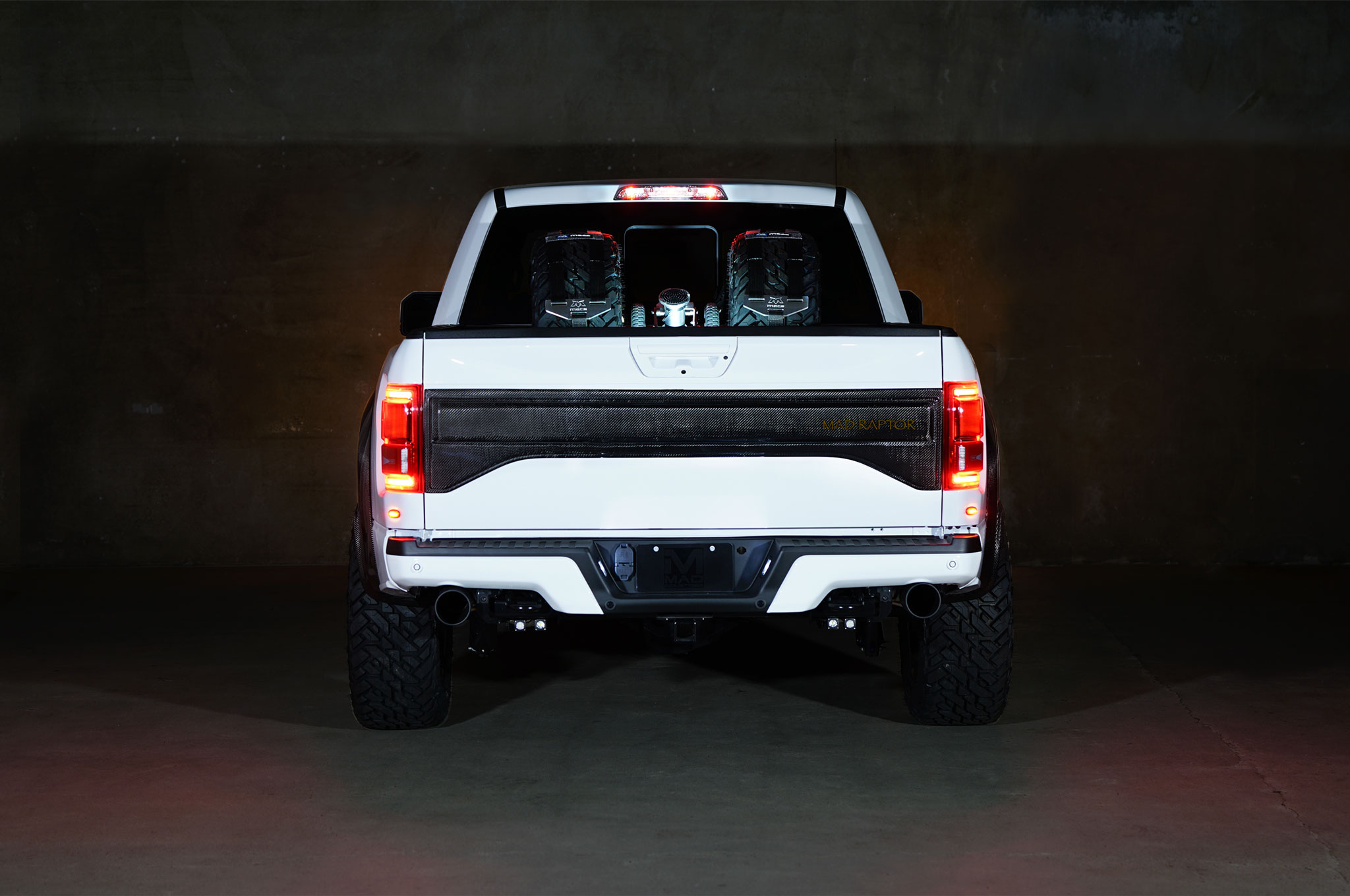 2018 Ford F 150 Raptor MAD Industries White back
