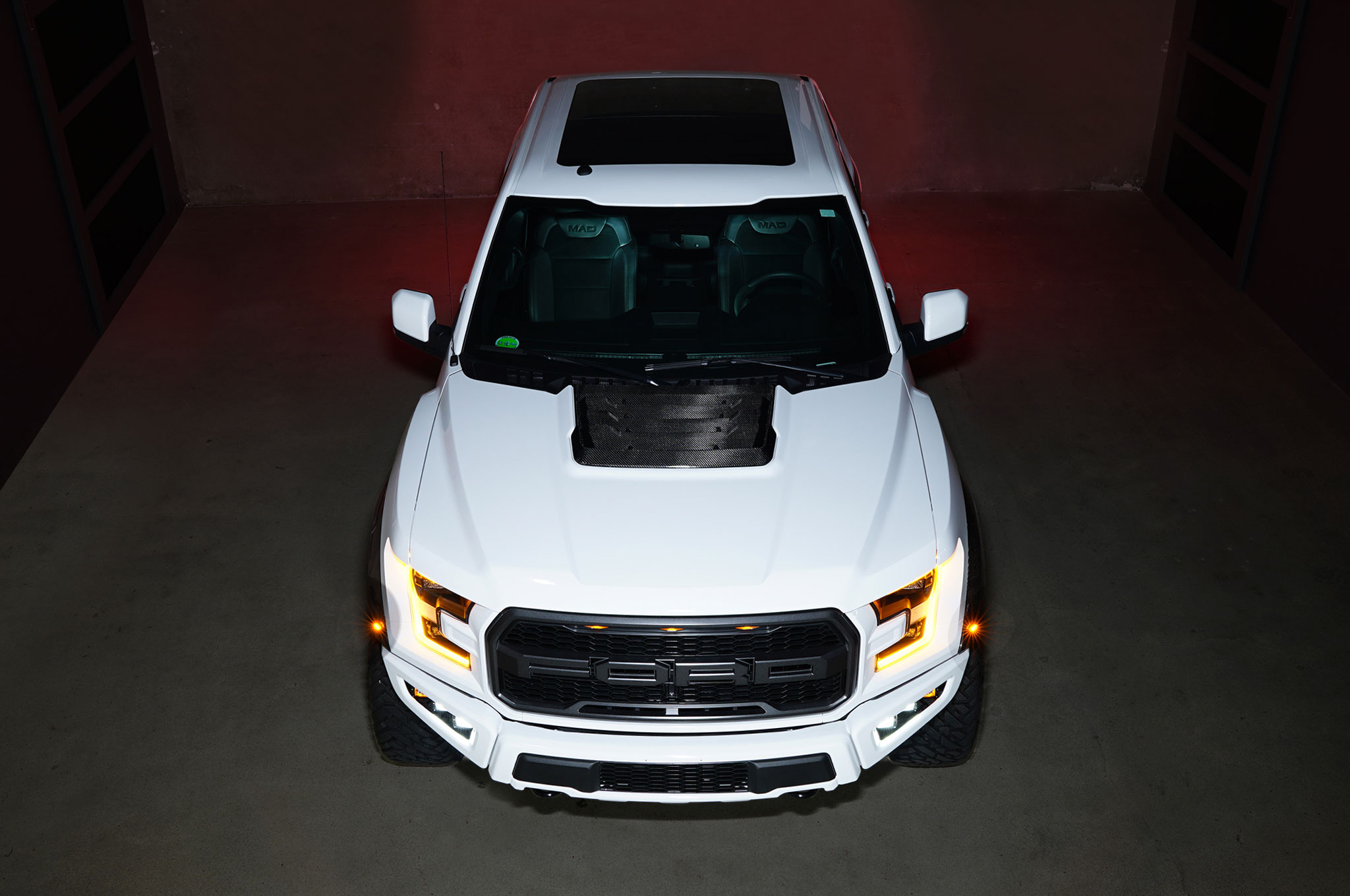 2018 Ford F 150 Raptor MAD Industries White front