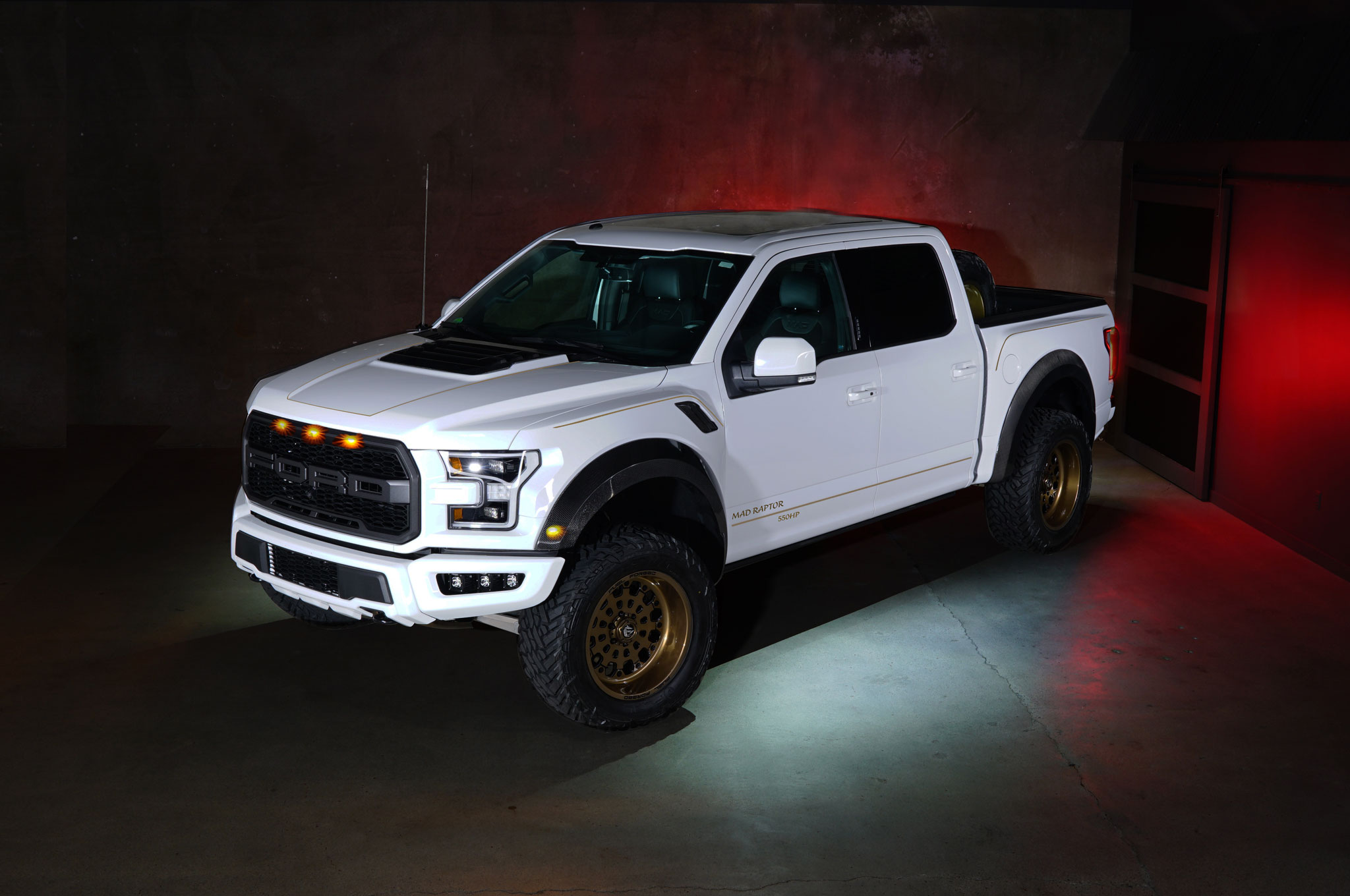 2018 Ford F 150 Raptor MAD Industries White Profile