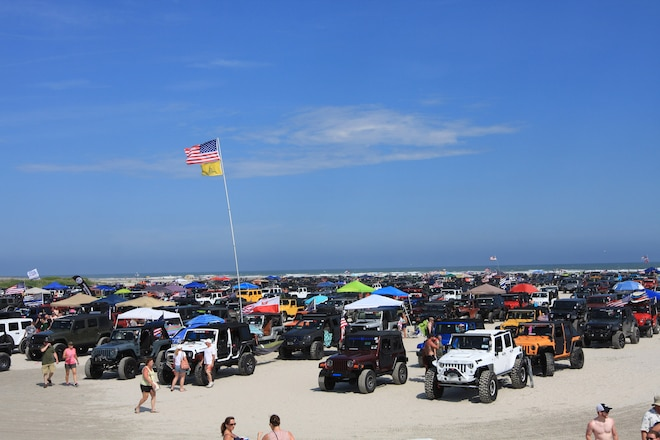 New Jersey Beach Jeep Invasion