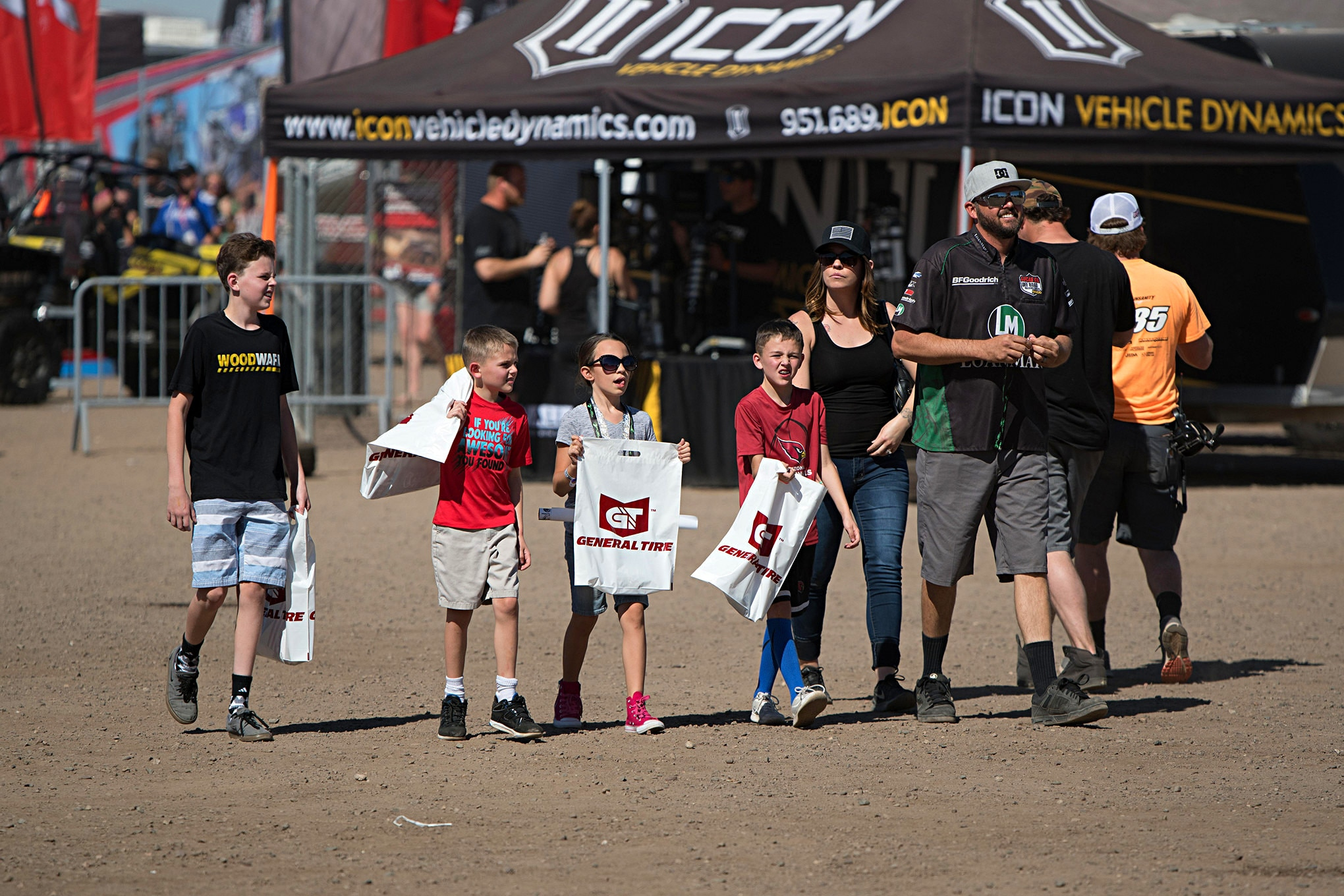 Family time spent filling goody bags from all the free merchandise is the best! LOORRS is family fun at its best.