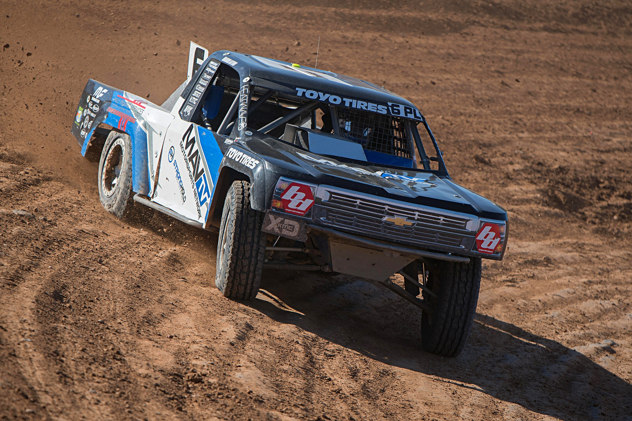 Brandon Arthur on his way to another Challenge Cup victory in his MavTv Prolite vehicle.