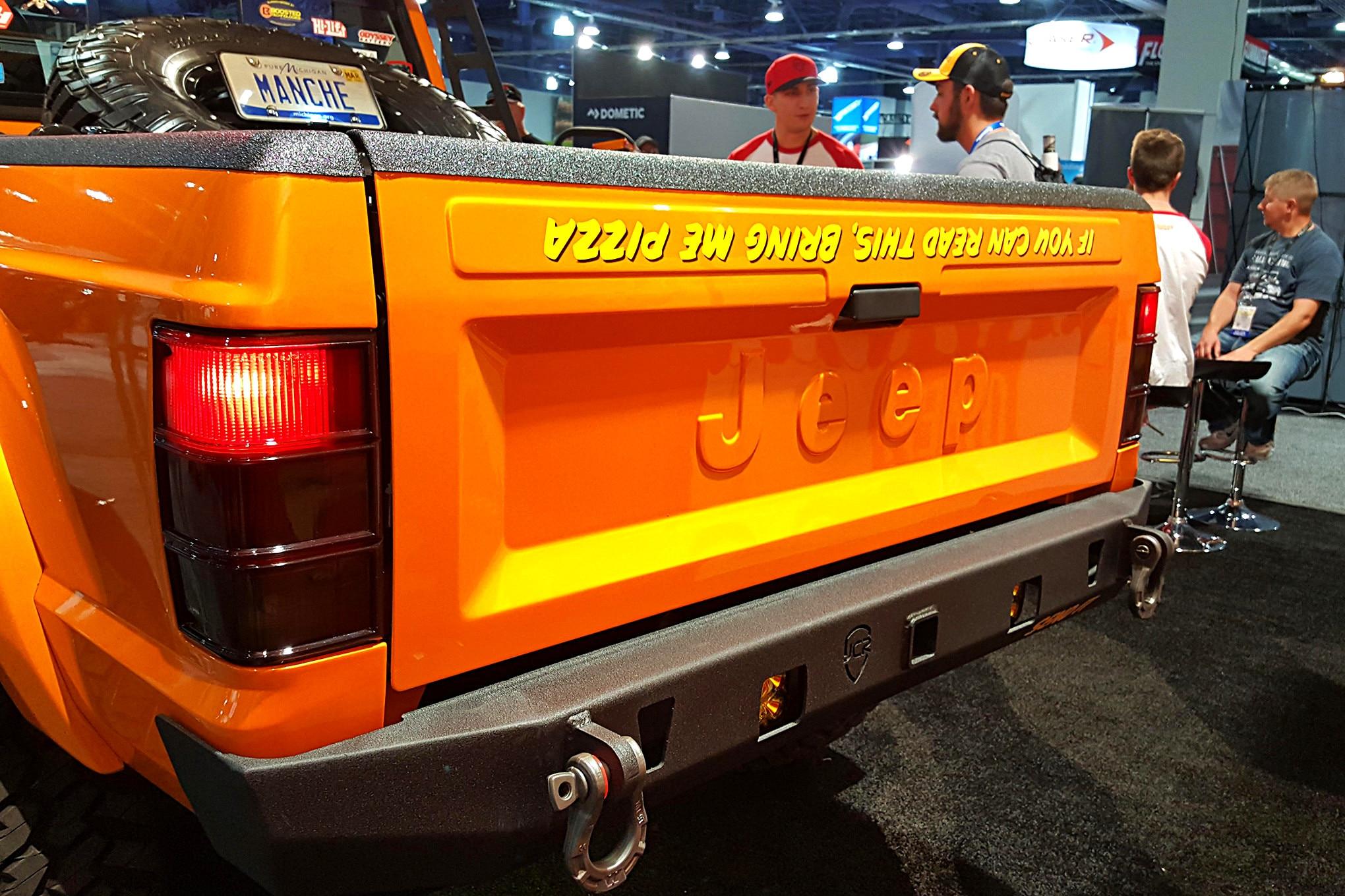 008 sema jeep mini feature comanche tailgate