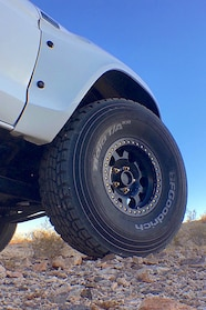 011 ford f100 bfgoodrich blitzkrieg fox eibach kmc dirt tech desertworks mcqueen trailer products wheel close up