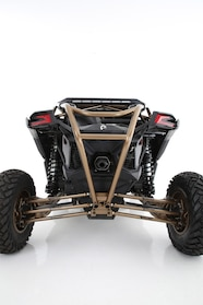 005 wolfpack motorsports can am x3 kchilites fuel offroad fox rear end close up