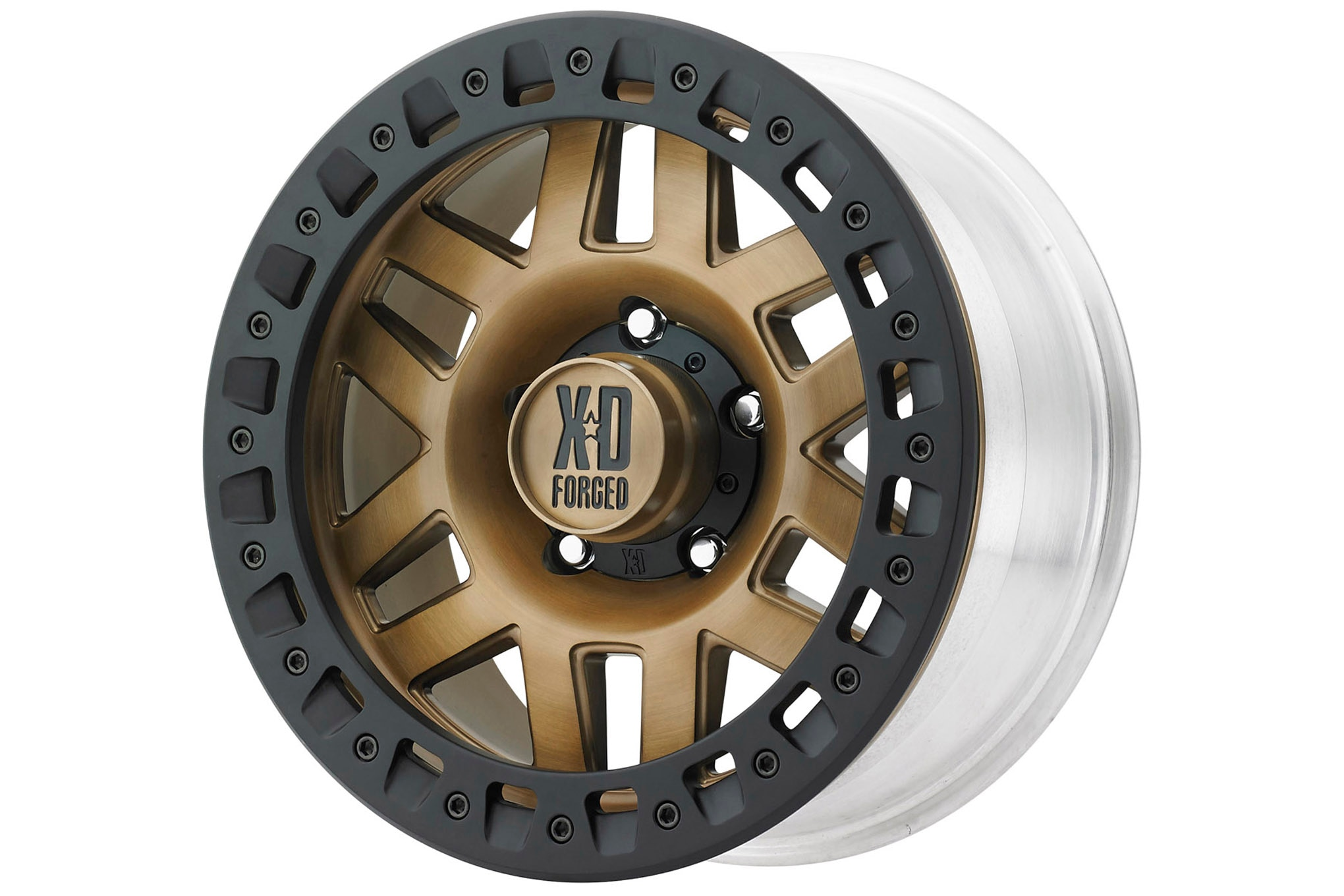 In case you hadn't noticed, bronze-colored wheels are coming on strong, and have become a very popular treatment for a Jeep wheel. This forged aluminum monoblock beadlock from KMC XD is a perfect example. The 2017 SEMA Show had wall-to-wall wheels, and lots of them were sporting bronze in one way or another. Who knows what next year's trend will be?