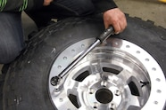 jeep wheel science beadlock ring being bolted on with torque wrench
