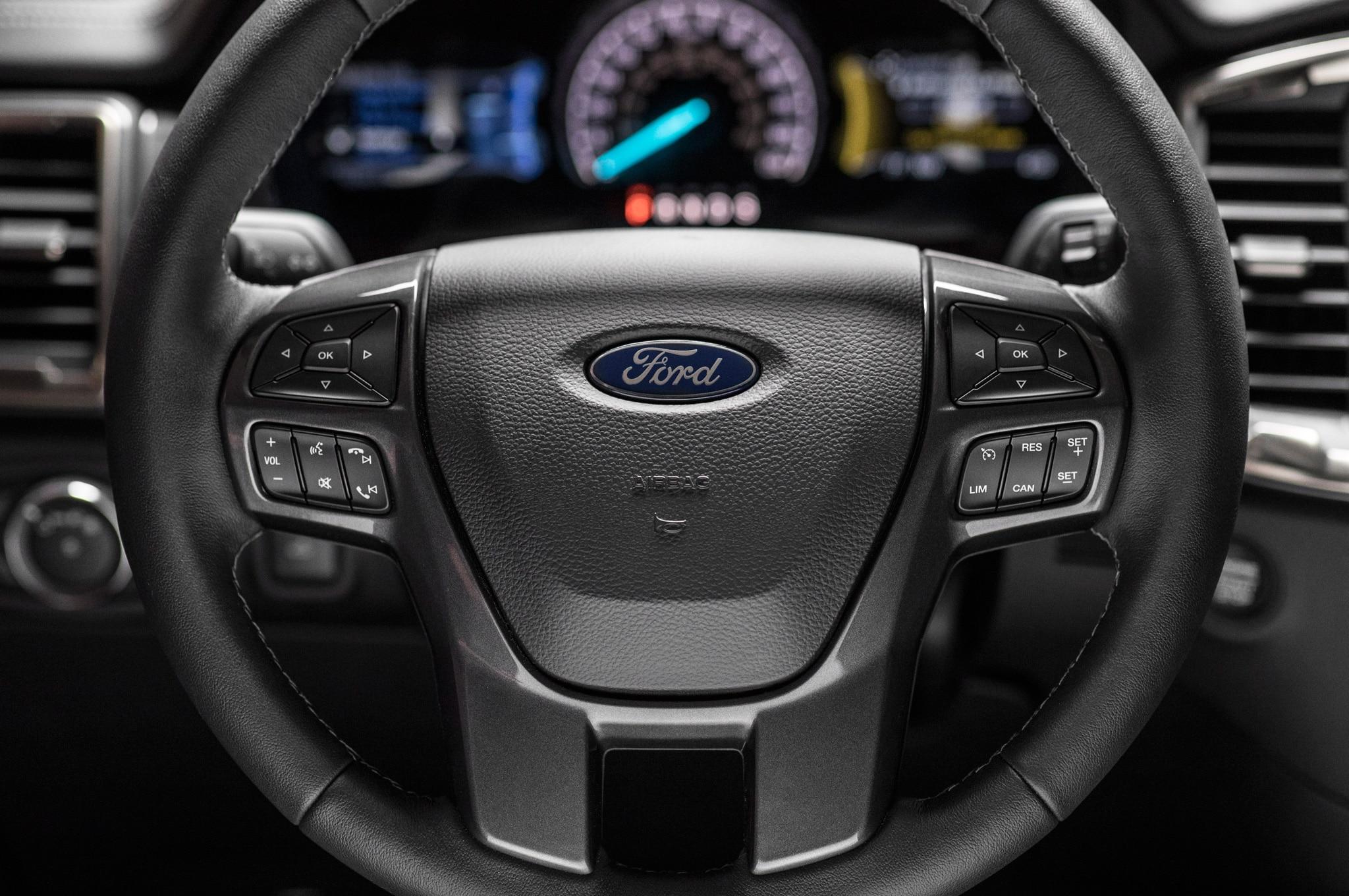 2019 ford ranger lariat fx4 interior steering wheel