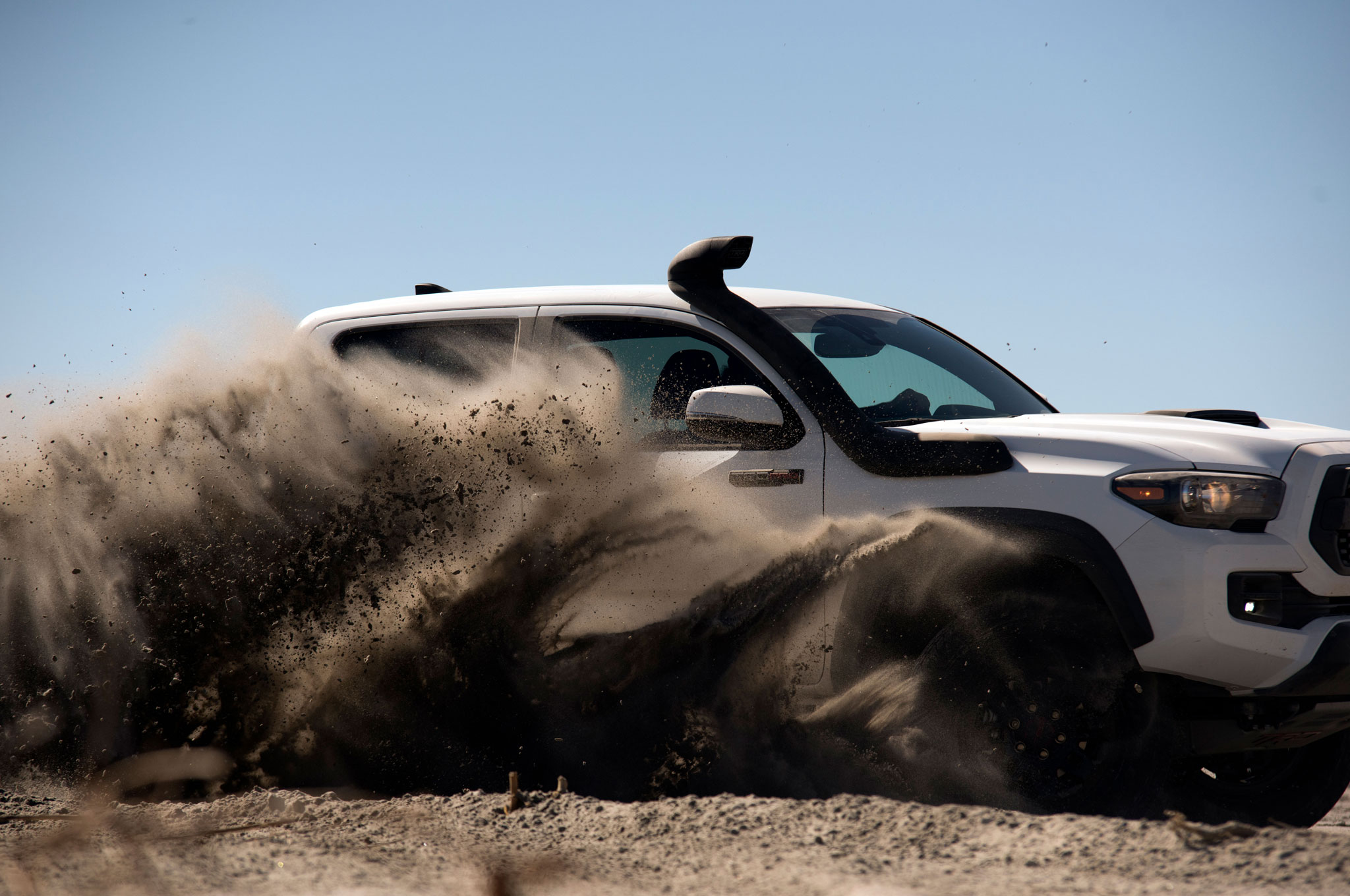 2019 toyota tacoma trd pro throwing dirt