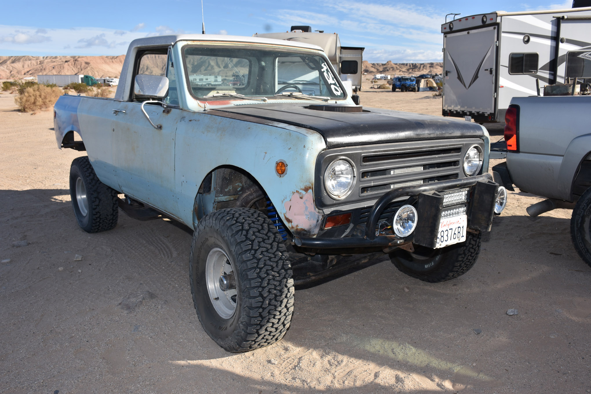 Speaking of vintage iron, check out this International Scout Traveler. The truck is powered by a 345ci tractor engine backed by a TF727 transmission. The suspension is built to go fast with a trick TTB front axle and a five-lug Dana 60 rear. Have a good long look at that front axle and see if you can figure out what makes that particular TTB axle very unique (hint: we're not talking about the custom steering).