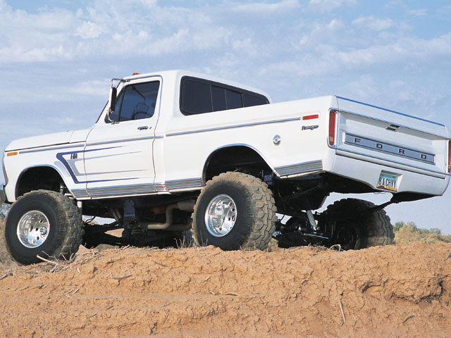 0108or 01 z+1974 ford f150 4x4 white truck+side view