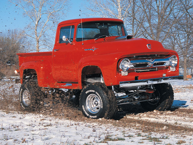 0104or 08 z+1956 ford f100 4x4+front view