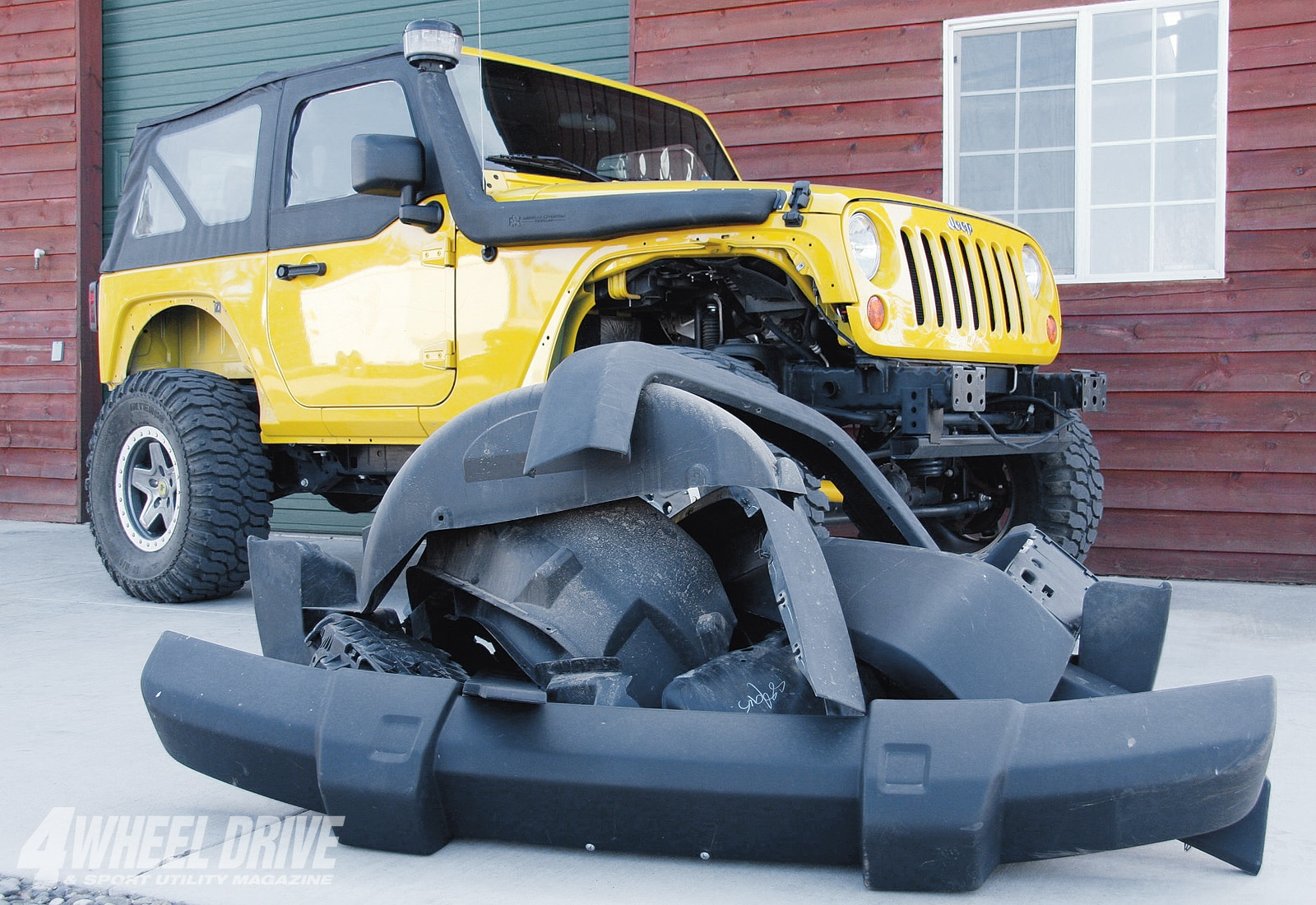 1001 4wd 02+2007 jeep wrangler jk buildup+recycled plastic