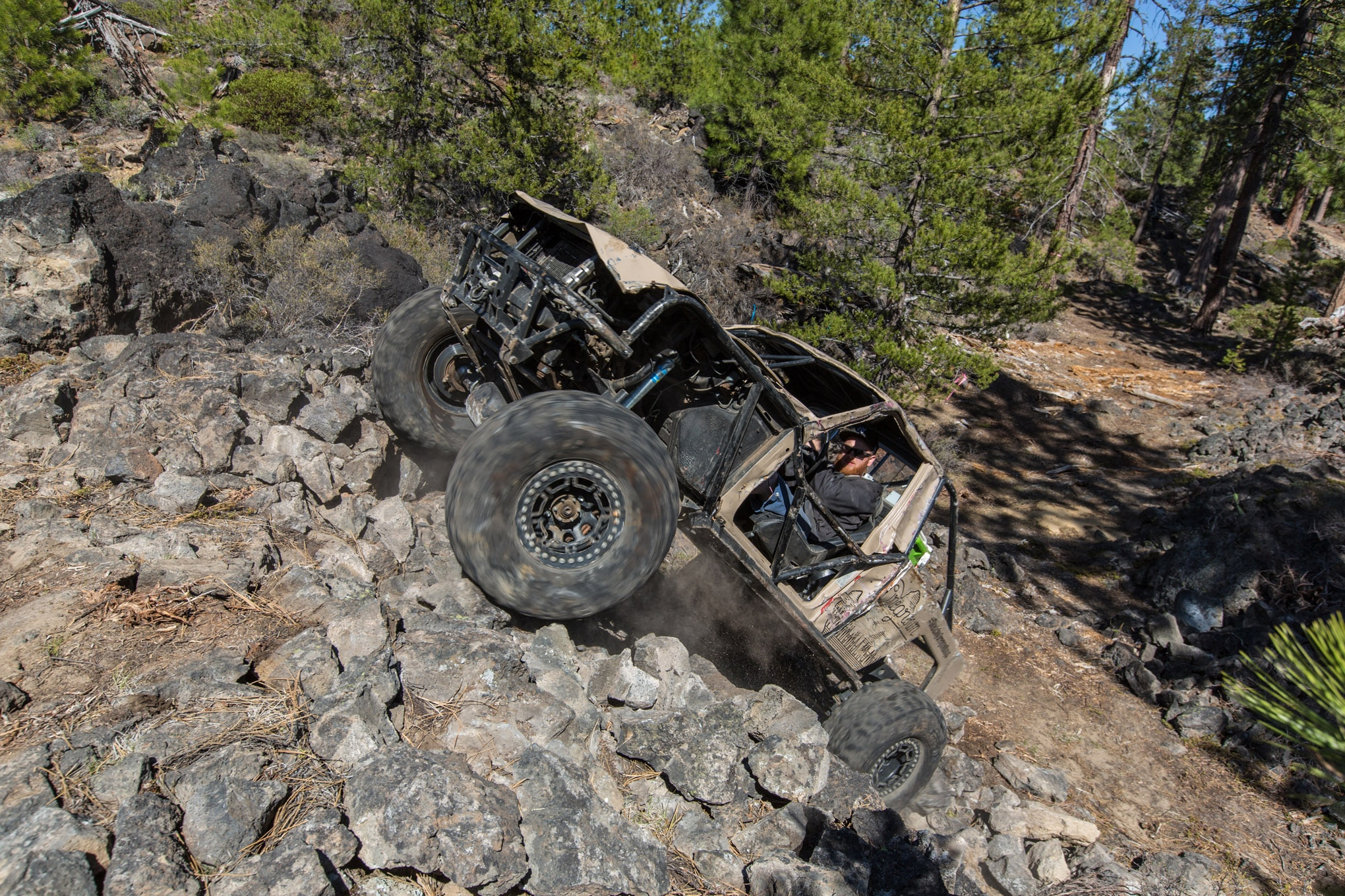 Cody Reems spent much of the day on the rev limiter, but he didn't scatter any parts in his Toyota. The factory Toyota components are legendary for their strength, so Cody didn't have to add much more than some tube and lockers to make it up any climb at Rim Butte.