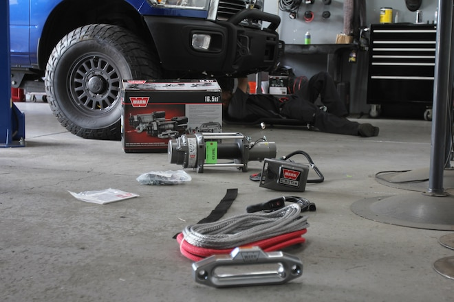 Off Road Warehouse Equips a Cummins Ram With the Ultimate in Warn Winch Pulling Power