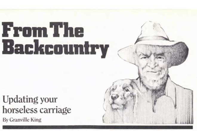 """Granville King's """"From The Back Country"""" March 1985"""