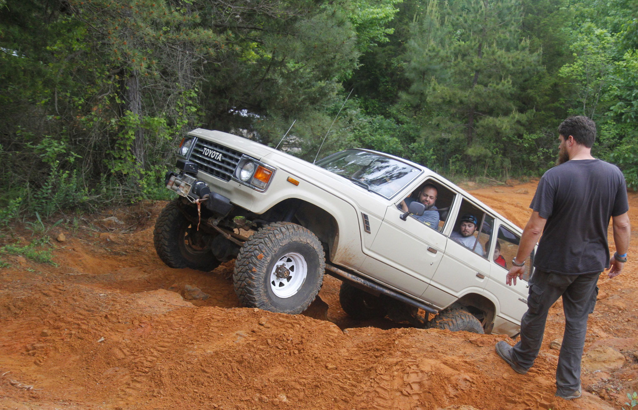 Along with the newer Toyotas we saw a handful of FJ60 Cruisers at the event. This driver was well experienced and brought the whole family along for the trail runs.