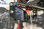 The rear axle received a new track bar relocation bracket