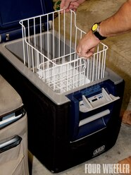 The back of the Fridge Freezer incorporates low-profile