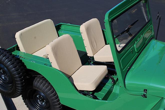 1946 CJ-2A Resto: Seats and Windshield