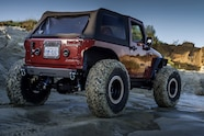 2007 jeep wrangler jk stretch evo long arm nitto trail grapplers rear