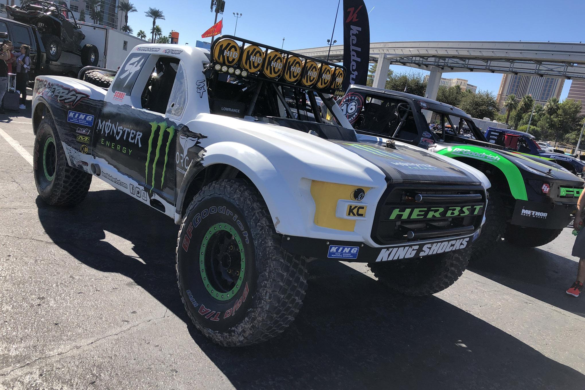 trophy trucks of the 2018 sema show