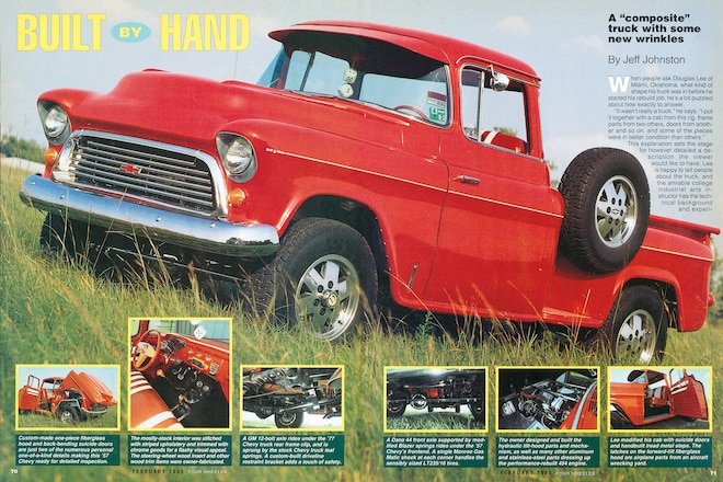 Trail's End: Built By Hand—Douglas Lee's 1957 Chevy Pickup Is A Red Head-turner