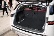 2020 range rover evoque interior rear cargo area seats up
