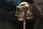 005 new products Schmuckatelli bronze metal skull shift knob rose