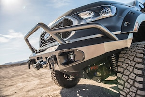Warn is up front with the Ascent Series bumper, housing not only a