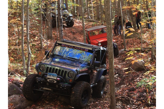Jeeping in New Hampshire Rocks
