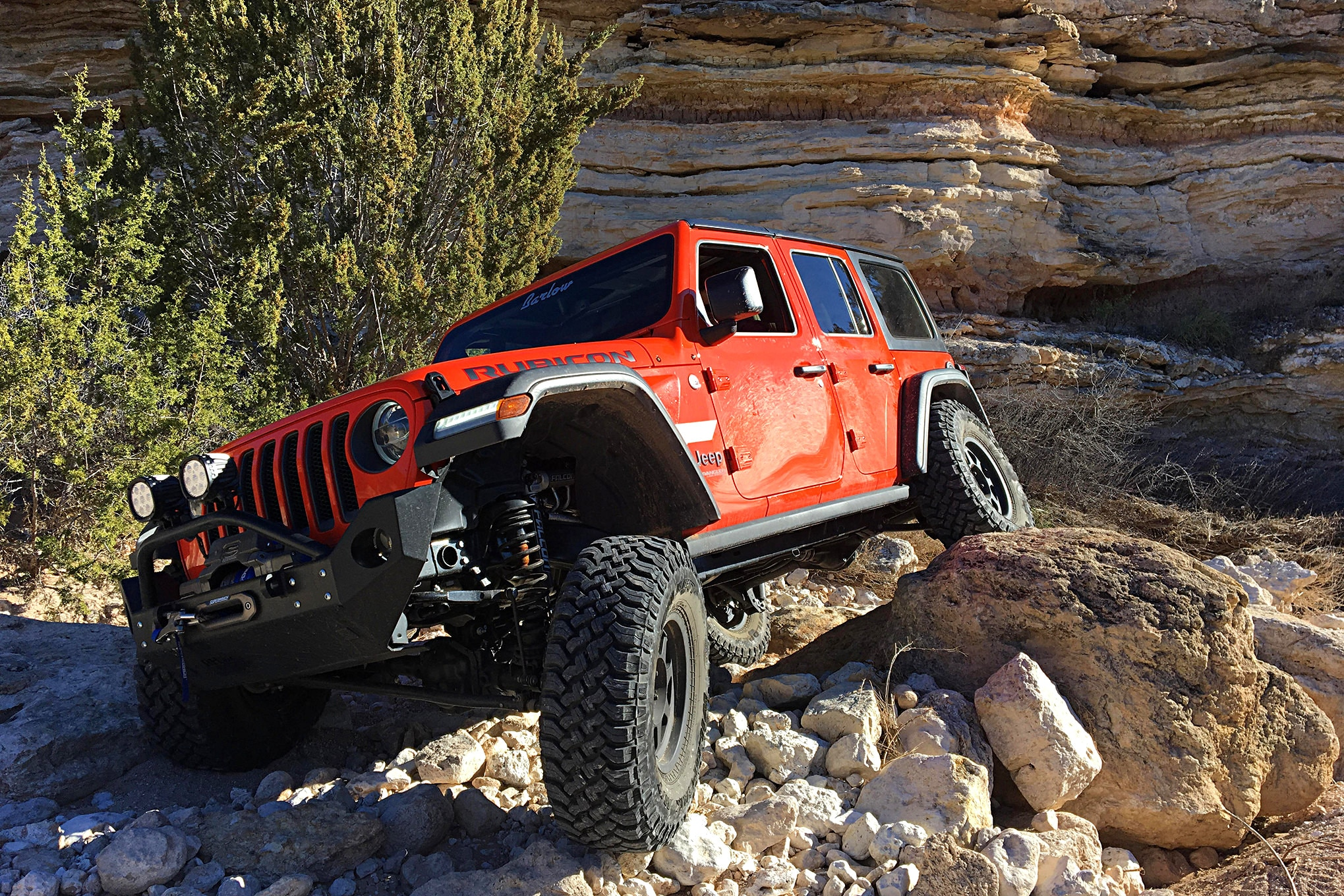 Suspension installation is a success when you can fully articulate your suspension and not rub or bind anything.